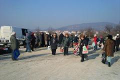 Az egyesület V. piaca a plébánia kertjében 2011.02.26.